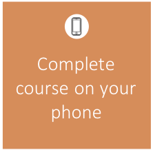 Complete course on your phone